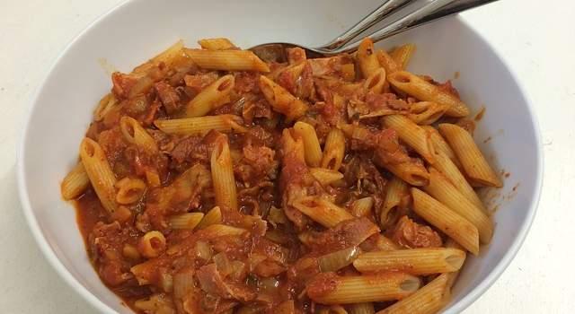 Penne salsa peperoni